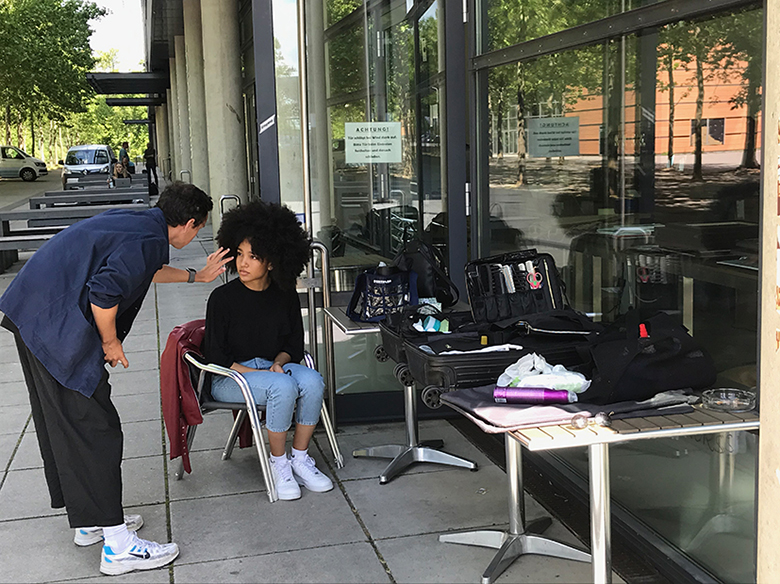 Fashion-Shooting auf der Plaza