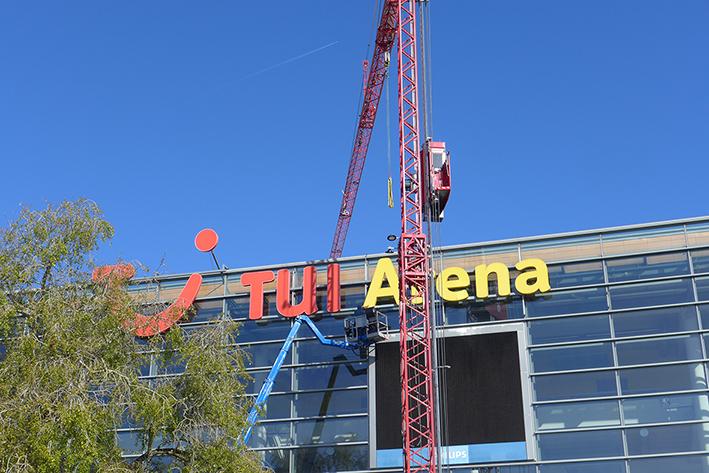 Los geht's: Aus TUI- wird ZAG-Arena