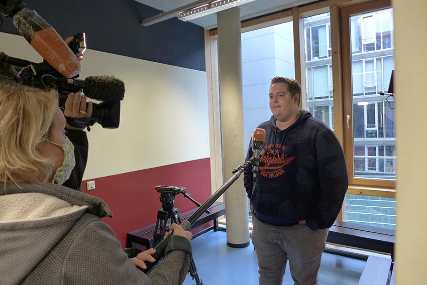 ZDF dreht MMBbS-Schulalltag in Coronazeiten