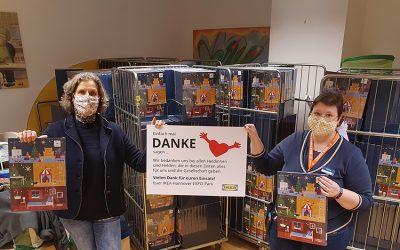 Ikea spendet 1150 Adventskalender