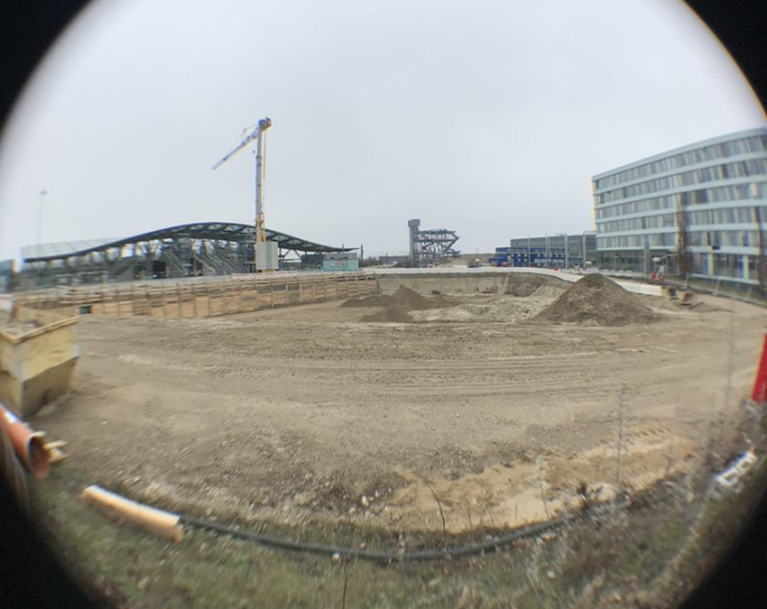 Torhaus: Baugrube ist ausgehoben
